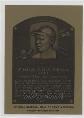 1981-89 Metallic Hall of Fame Plaques - [Base] #JUJO - Judy Johnson