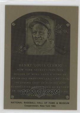 1981-89 Metallic Hall of Fame Plaques - [Base] #LOGE - Lou Gehrig