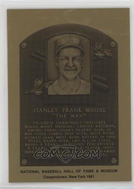 1981-89 Metallic Hall of Fame Plaques - [Base] #STMU - Stan Musial