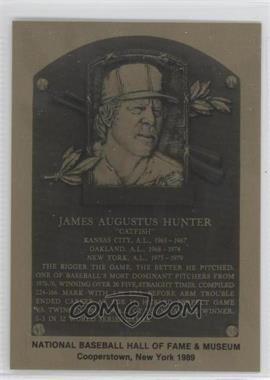 1981-89 Metallic Hall of Fame Plaques #198 - Catfish Hunter