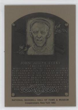 1981-89 Metallic Hall of Fame Plaques #JOEV - Johnny Evers