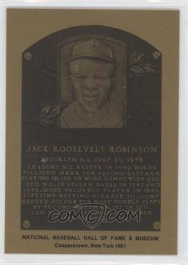1981-89 Metallic Hall of Fame Plaques #N/A - Jackie Robinson