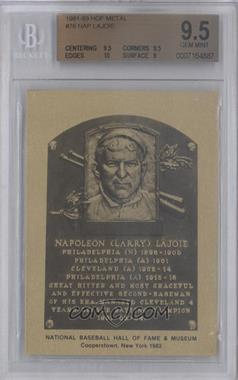 1981-89 Metallic Hall of Fame Plaques #NALA - Nap Lajoie [BGS 9.5]