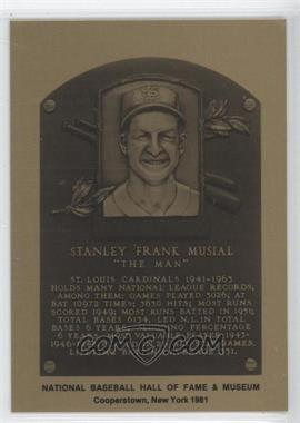 1981-89 Metallic Hall of Fame Plaques #STMU - Stan Musial