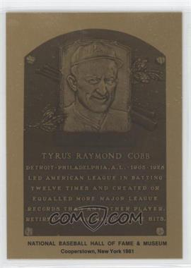 1981-89 Metallic Hall of Fame Plaques #TYCO - Ty Cobb