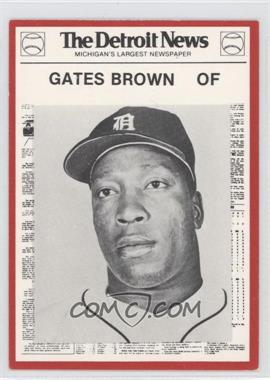 1981 Detroit News Detroit Tigers Boys of Summer 100th Anniversary #106 - Gates Brown