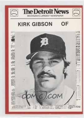 1981 Detroit News Detroit Tigers Boys of Summer 100th Anniversary #20 - Kirk Gibson