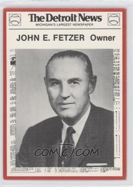 1981 Detroit News Detroit Tigers Boys of Summer 100th Anniversary #81 - John Ferguson