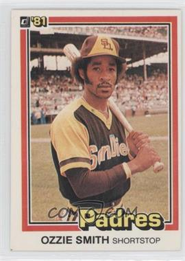 1981 Donruss - [Base] #1 - Ozzie Smith