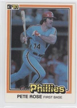 1981 Donruss - [Base] #251 - Pete Rose