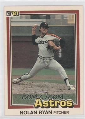 1981 Donruss - [Base] #260 - Nolan Ryan