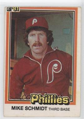 1981 Donruss #11 - Mike Schmidt