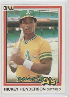 1981 Donruss #119 - Rickey Henderson