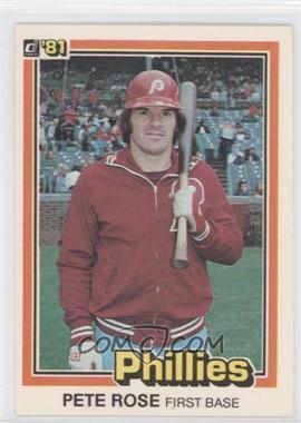 1981 Donruss #131 - Pete Rose