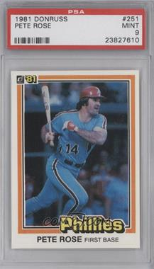 1981 Donruss #251 - Pete Rose [PSA 9]