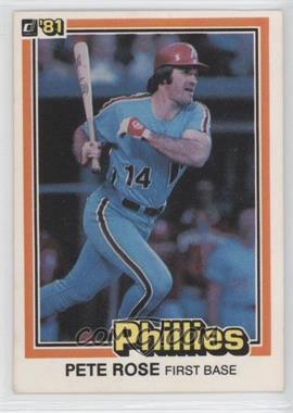 1981 Donruss #251 - Pete Rose