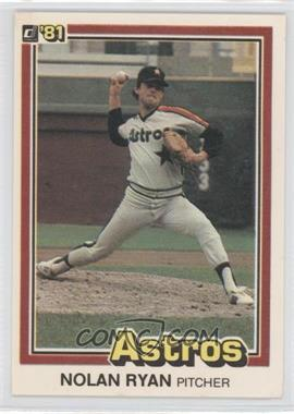 1981 Donruss #260 - Nolan Ryan