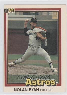 1981 Donruss #260 - Nolan Ryan