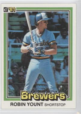 1981 Donruss #323 - Robin Yount