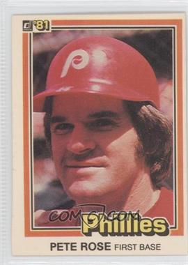 1981 Donruss #371 - Pete Rose