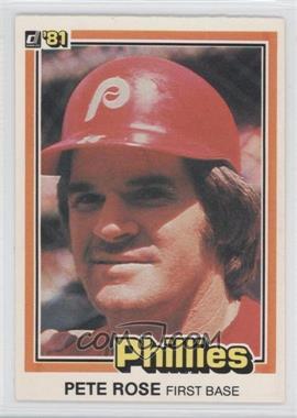 1981 Donruss #371 - Pete Rose