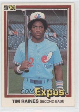 1981 Donruss #538 - Tim Raines