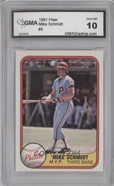 """1981 Fleer - [Base] #5.2 - Mike Schmidt (""""M.V.P"""" on Front) [ENCASED]"""