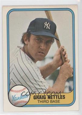 """1981 Fleer - [Base] #87.1 - Graig Nettles (Error: """"Craig"""" on Back)"""