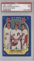 Mike Schmidt, Pete Rose, Larry Bowa [PSA 7]