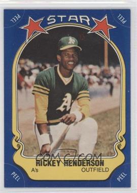 1981 Fleer Star Stickers - [Base] #54 - Rickey Henderson