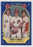 Mike Schmidt, Pete Rose, Larry Bowa