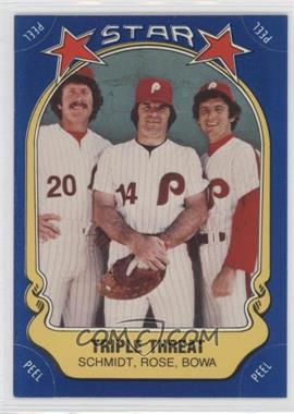 1981 Fleer Star Stickers #43 - Mike Schmidt, Pete Rose, Larry Bowa
