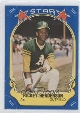 1981 Fleer Star Stickers #54 - Rickey Henderson