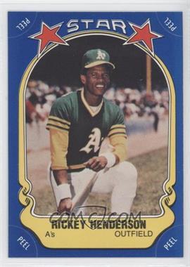 1981 Fleer Star Stickers #54 - Rickey Henderson