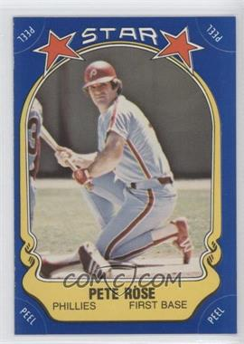 1981 Fleer Star Stickers #74 - Pete Rose