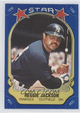 1981 Fleer Star Stickers #N/A - Reggie Jackson