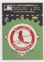 St. Louis Cardinals (Record and Logo Baseball Diamond)