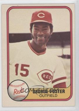"1981 Fleer #216.2 - George Foster (""Outfield"" on Front)"