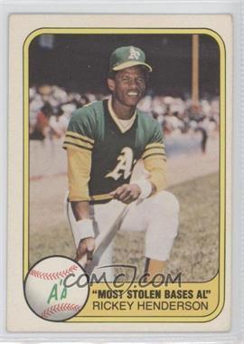 1981 Fleer #351 - Rickey Henderson