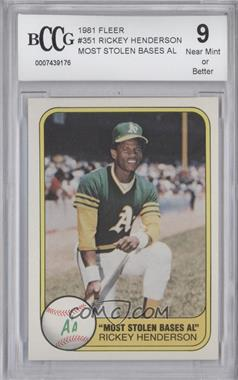 1981 Fleer #351 - Rickey Henderson [ENCASED]