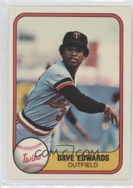 1981 Fleer #568 - Dave Edwards