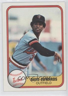 1981 Fleer #568 - Dave Edwards