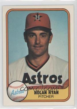 1981 Fleer #57 - Nolan Ryan