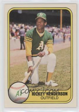 1981 Fleer #574 - Rickey Henderson