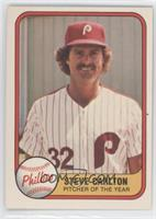 Steve Carlton error: card #660 (Pitcher of the Year) front, year 1066 on back
