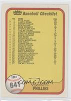 Checklist (Philadelphia Phillies, Kansas City Royals) (#41 Hal McRae)