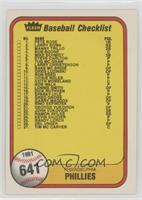 Checklist (Philadelphia Phillies, Kansas City Royals) (#41 Hal McRae)