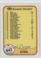 Checklist (Houston Astros, New York Yankees)