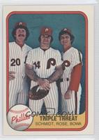 Triple Threat (Mike Schmidt, Pete Rose, Larry Bowa) error: no card number