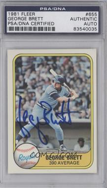 1981 Fleer #655 - George Brett [PSA/DNA Certified Auto]